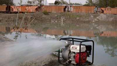 Мотопомпа грязевая