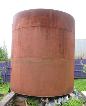 Бочка, металлический бак для воды