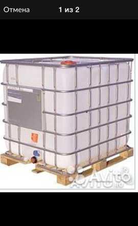 Еврокуб, Емкость для воды 1000л. Куб пластиковый