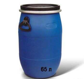 Емкость бочки 65 л