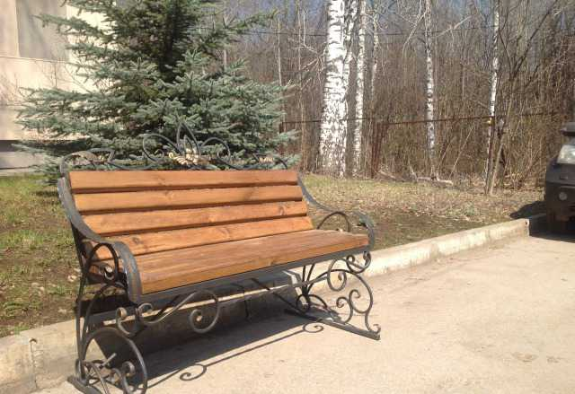 Скамейка садовая кованная