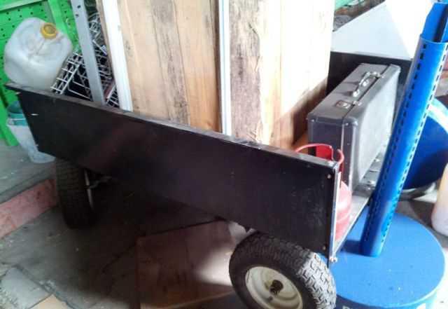 Тележка двухосевая для мотоблока, садового трактор