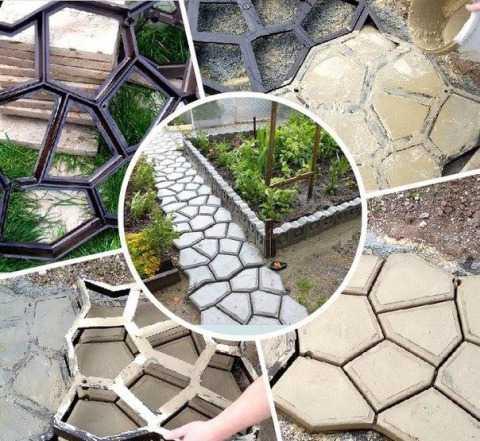 Форма для садовых дорожек