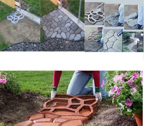 Формы для создания садовых дорожек