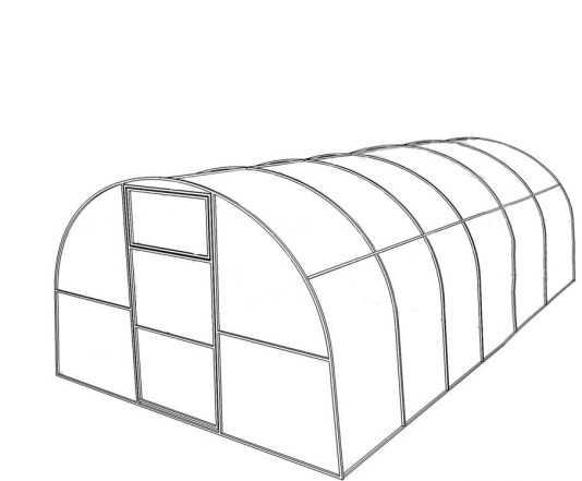 Теплица с поликарбонатом 4 метра