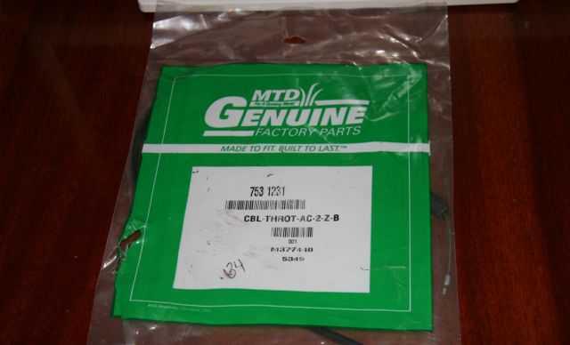 Трос газа MTD 753-1231
