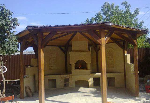 Барбекю, печи и камины из кирпича