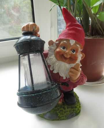 Садовый светильник с солнечной батареей Gamelion