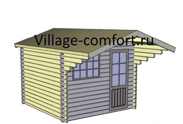 Летний, Гостевой домик, Летняя кухня 3х3 с навесом