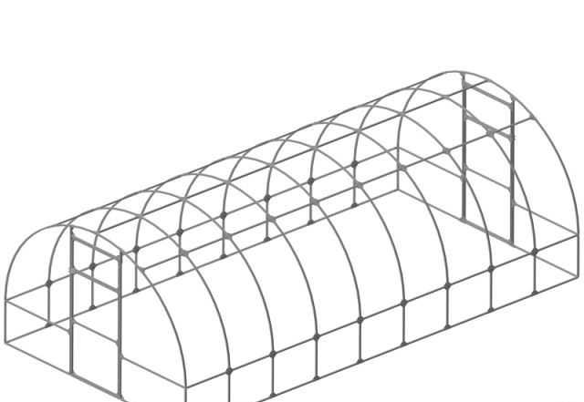 Теплица оцинкованная 6м с поликарбонатом