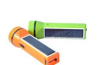 Фонарик на солнечной батарее