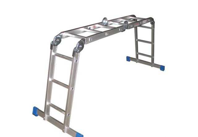 Лестница трансформер алюминиевая 4x4 ступени