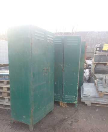 Шкафчик металлический для спецодежды
