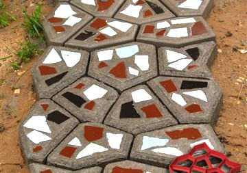 Тратуарная плитка (садовая дорожка) армированная