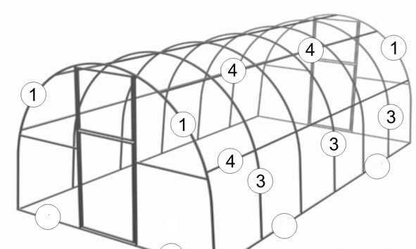 Теплица 3х4м (труба 20х20мм)