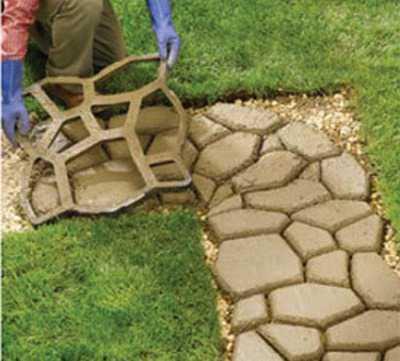 Крепкие формы для садовой дорожки