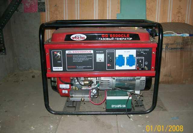 Газовый электрогенератор wolsh GG 6500 CLE