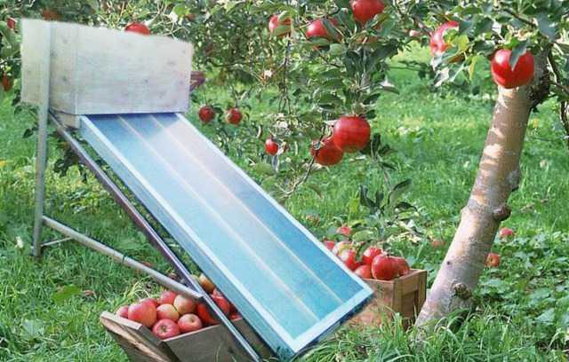 Садовая гелиосушильная установка
