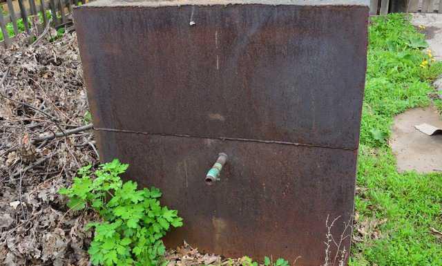 Ёмкость для воды-0.75 куб. М из металла 6мм