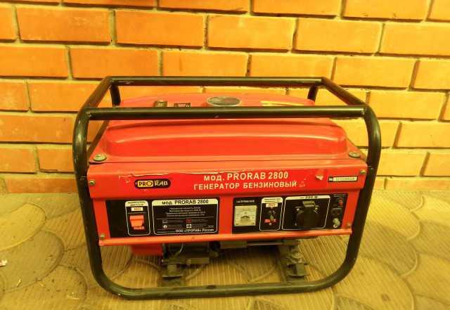 Бензиновый генератор прораб-2800