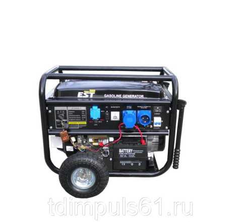 Бензиновый электро генератор EST 8500 EV/3