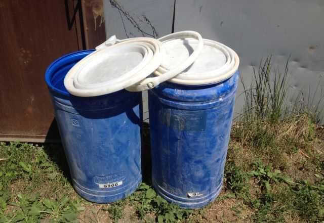 Бочка 80-100 литров с крышкой на фиксаторе пвх