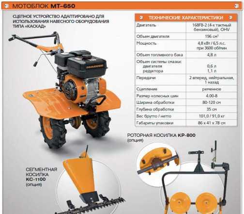 Мотоблок Carver MT-650