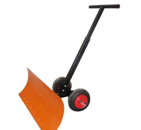 Лопата для чистки снега на колесах