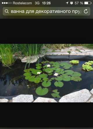 Садовый пруд на 600 литров