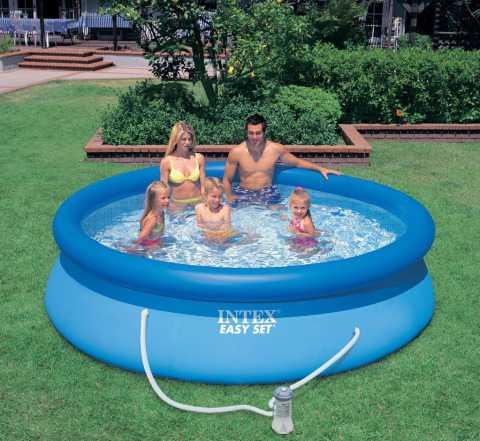 Бассейн Easy Set 3.66х0.76м + фильтр-насос новый