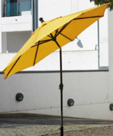 Желтый зонт для сада