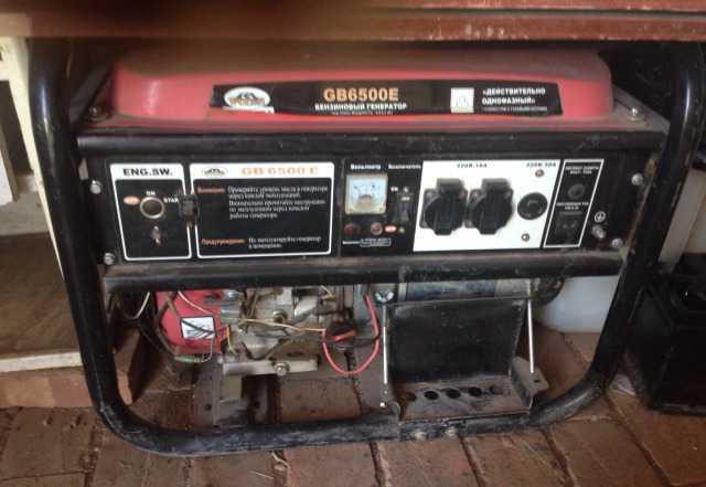 Генератор бензиновый Wolsh GB-6500Е