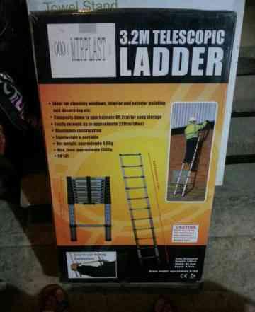 Лестнтца телескопическая алюминевая 3.2 м