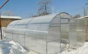 Усиленная теплица из поликарбоната, 3х6м