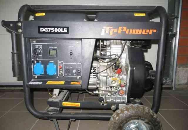 Генератор дизельный DG7500 LE, 6.5 кВт, однофазный