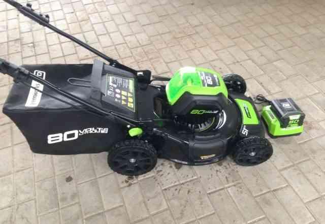Аккумуляторная газонокосилка Greenworks Pro 80V