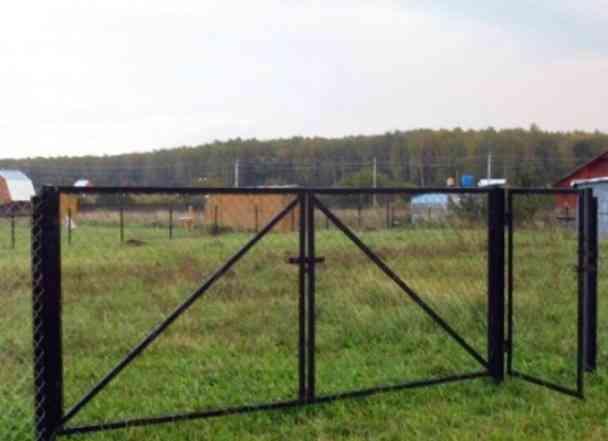 Ворота с Калиткой на дачный участок