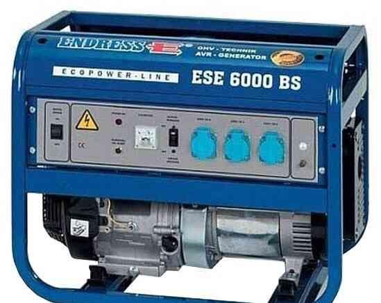 Бензогенератор немного б/у endress ESE 6000 (пр-во