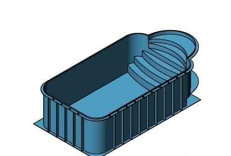 Чаша бассейна из полипропилена со ступеньками