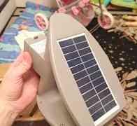Уличный светильник на солнечной панели зета P9011