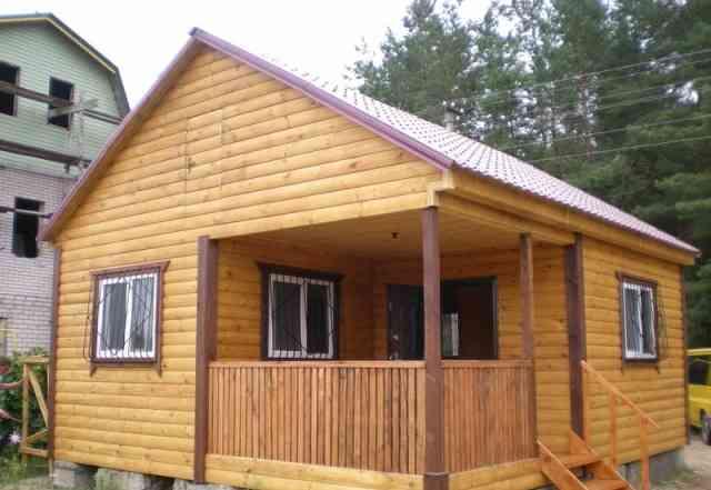 Дачный домик потолок 2.3 м из 2-х готовых модулей