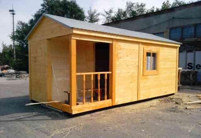 Дачный домик - бытовка 6х2.3 с высокой крышей