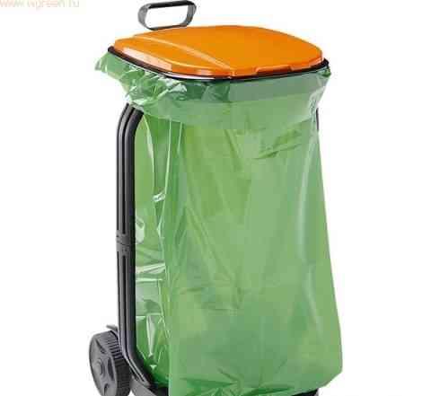 Тележка-мешок для сбора травы и листьев