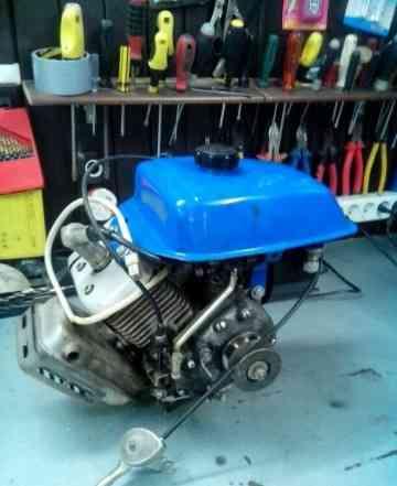 Двигатель культиватор крот