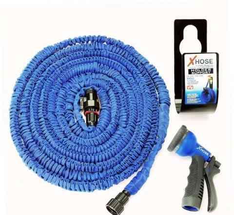 Удлиняющийся шланг X-hose для полива. fr-6