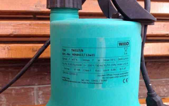 Дренажный насос wilo drain TM 32/7/B
