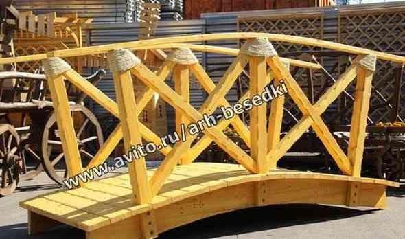 Мостик, мостик дачный, мостик на водоем арт 1202