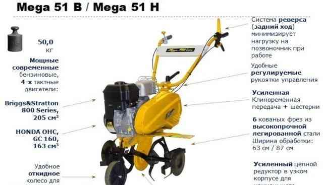 Культиватор Мега 51B