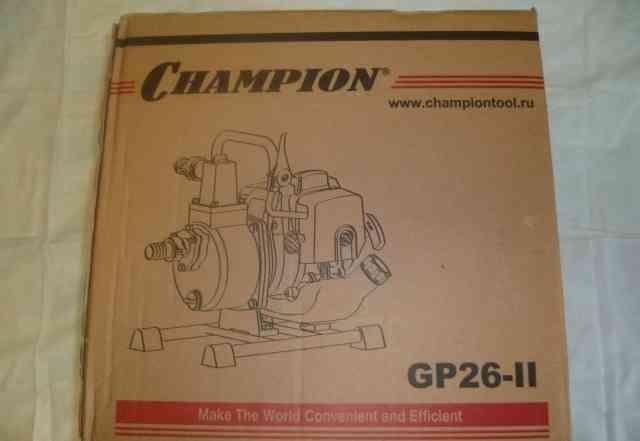 Новая мотопомпа champion GP26-II
