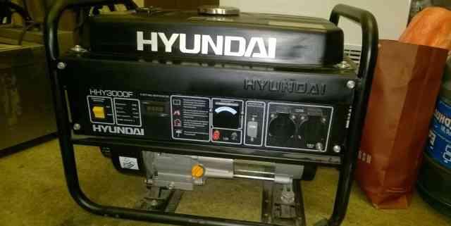 Бензиновый генератор хэндай HHY 3000F + тележка